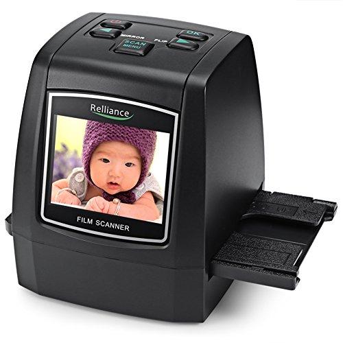 EC018 Scanner per pellicole ad alta risoluzione Scanner per diapositive CMOS 35mm, 110/135 / 126KPK / Super 8 film USB 2.4 TFT LCD