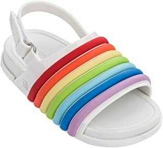 Mini Melissa Women's Mini Beach Slide Sandal Rainbow Flat