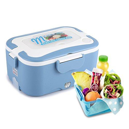Zyyini Car Food Warmer, 1.5L Portatile 12V / 24V Car Lunch Box Riscaldamento Elettrico Contenitore scaldavivande per Viaggiare e Guidare(2#)