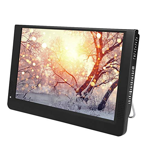 ASHATA Tragbarer DVB-T/T2 Fernseher, 12 Zoll HD TV DVB-T/T2 LCD Fernseher Digital Analog TV,1080P...