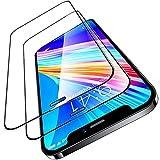 TORRAS 全面保護 iPhone 12 mini 用 ガラスフィルム 割れない強化ガラス 2枚セット ガイド枠付き 三倍強化黒縁 フルカバー 液晶保護 高耐衝撃 9H 高透過 ヒビ割れ防止 2021 5.4インチ用