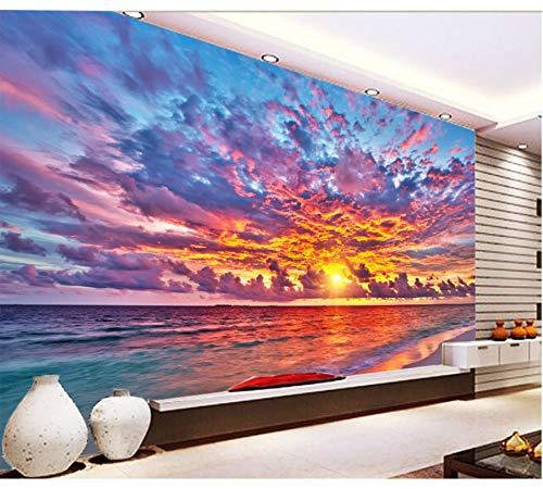 3D Sea Under The Twilight 31897 Papel de pared Mural Impresión de pared Tatuajes de pared Murales 280X200Cm