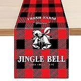 Caminos de Mesa Corredor de mesa de Navidad Red Black Stripe Mantel Party Theme Party Tabla de Navidad Cubierta Fiesta de Año Nuevo Decoración de Navidad (Color : A, Size : 33 * 178cm)
