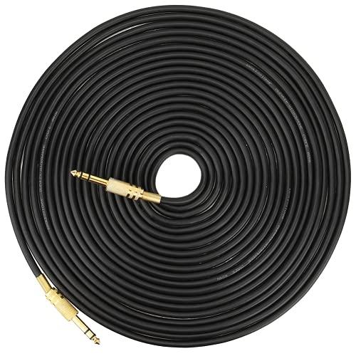 Oreilet Cable De Guitarra, Cable De Amplificador De Guitarra 2 Canales Carcasa De Aleación De Aluminio Chapada En Oro Anticorrosión 6,35 Mm Macho A Macho para Reproductor De CD para Computadora(10M)