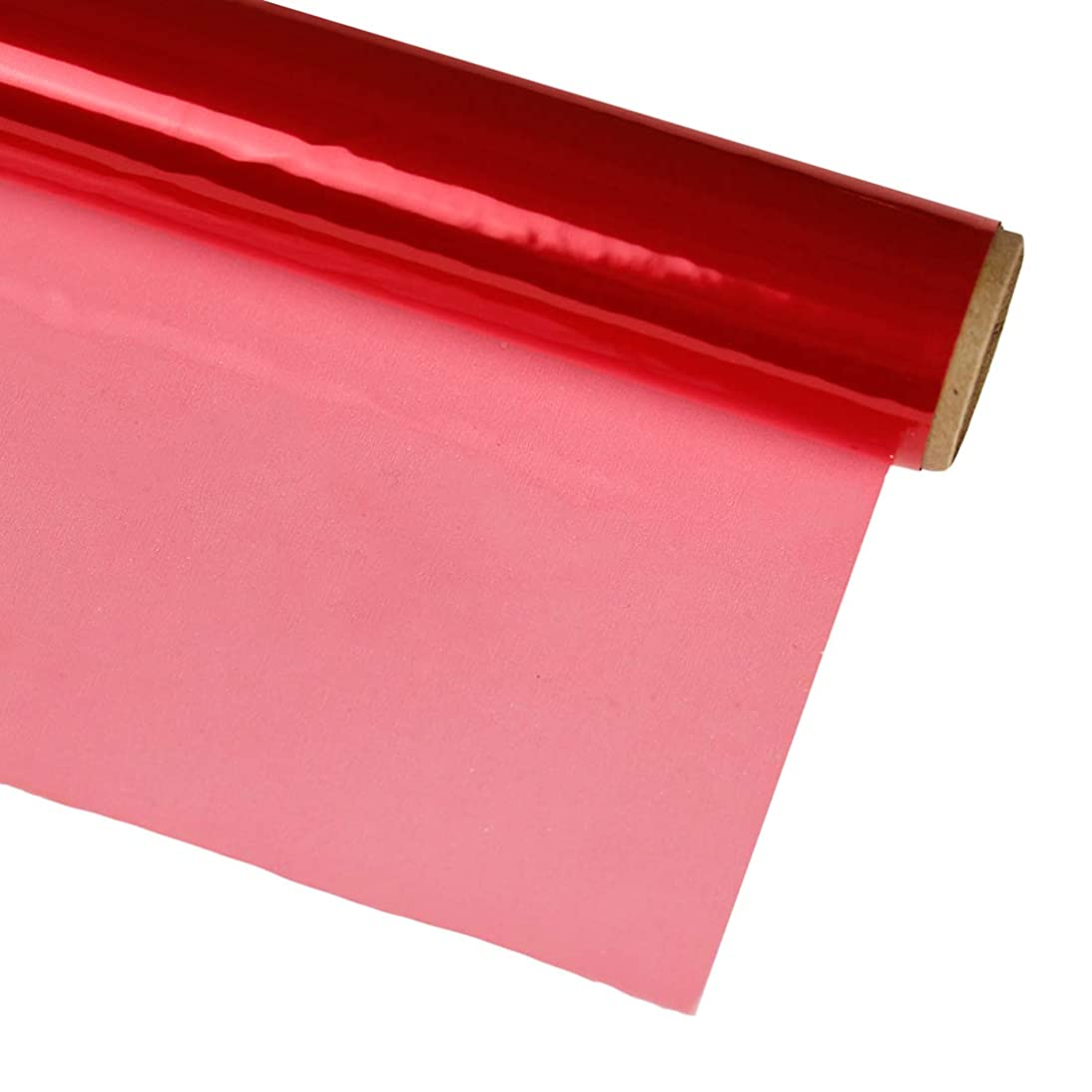 Hygloss Products Cellophane Roll – Cellophane Wrap for Crafts, Gifts, and Baskets 20 Inch x 5 Feet, Red