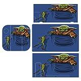 B-aby Yoda Un juego completo de película de piel es adecuado para Switch, Switch Lite Game Console Protection Sticker,Game Dual-Handle Film para interruptor