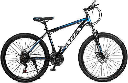 SYCY Bicicleta de montaña de aleación de Aluminio con suspensión Delantera, Ruedas de 26 Pulgadas, 21 Frenos de Disco Dual de Velocidad múltiple, Bicicletas de Carretera híbridas-UN_26'