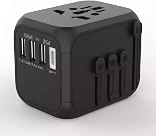 Universal Travel Adapter,International Power Adapter Worldwide All in One AC Outlet Power Plug Adapter 3 USB + 1 Type C Ch...