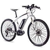 CHRISSON 27,5 Zoll E-Bike Mountainbike Bosch - E-Mounter 3.0 Weiss 44cm - Elektrofahrrad, Pedelec...