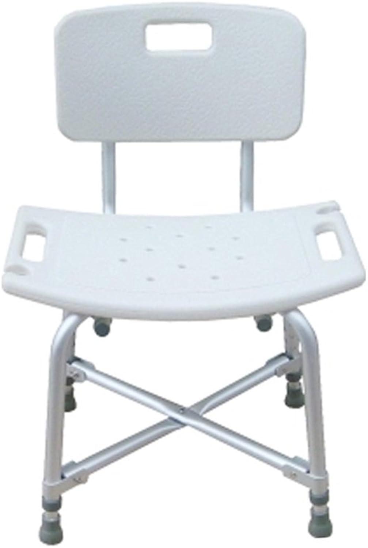 Adjustable Height - Reinforcement Aluminium Alloy Bathroom Shower Stool - Bath Seat Shower Chair Bath Bench - Shower Bath Stools (Size   with Backrest)