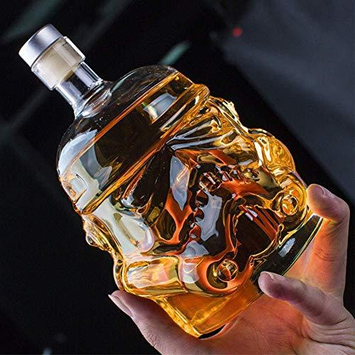 DZSF Transparent 700Ml Karaffe Stormtrooper Flasche Carafehelmet Glass Cup Hitzebeständigkeit Cupsuitable Für Whisky-Wodka Und Wein Decanter