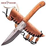 RED DEER Patch Knife (Olive Wood) Large Size