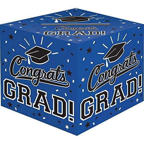 Amscan Grad Cardholder Box, 12' x 12' x 12', Blue