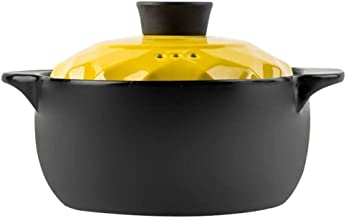 Clay Casserole Pot Terracotta Stew Pot- Resistance To Cold And Heat, Heat Storage And Energy Saving, Durable-capacity_1800...
