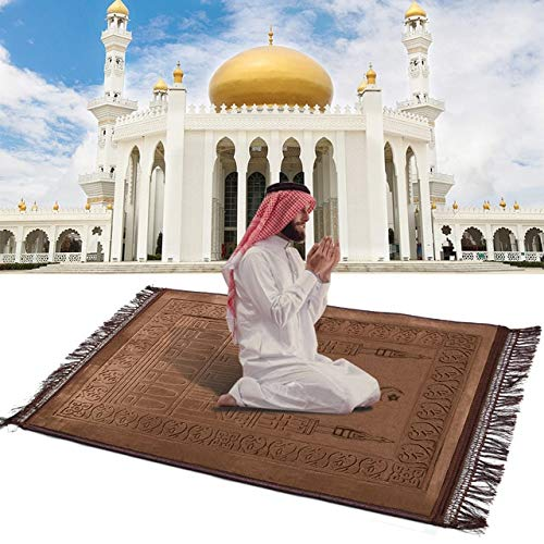 ZCLS Alfombra de oración islámica Musulmana Suave Gruesa Alfombra de oración Salat Musallah Tapis de priere Islam Alfombra de oración Sajadah