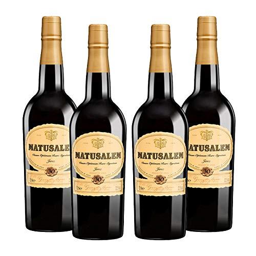 Vino oloroso dulce Matusalem de 75 cl - D.O. Jerez de la Frontera - Bodegas Gonzalez Byass (Pack de 4 botellas)