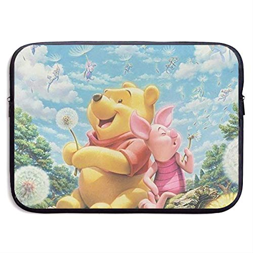 Hdadwy Winnie The Pooh Quotes Waterproof Neoprene Sleeve Bag Cover Compatible Laptop 15 inch