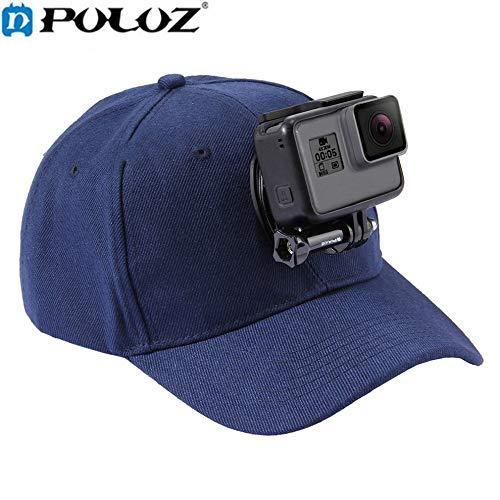 LanLan stabilisatoren en houder voor camcorder, verstelbaar, met schroeven en stent J-basis voor koptelefoon puluz sport camera voor GoPro Hero 6 5 4/5 4 Session Marineblauw