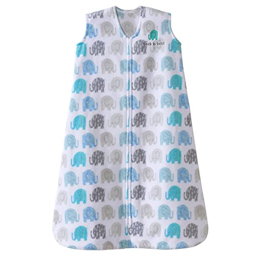HALO Sleepsack, Micro-Fleece, Elephant Texture, Grey, Medium