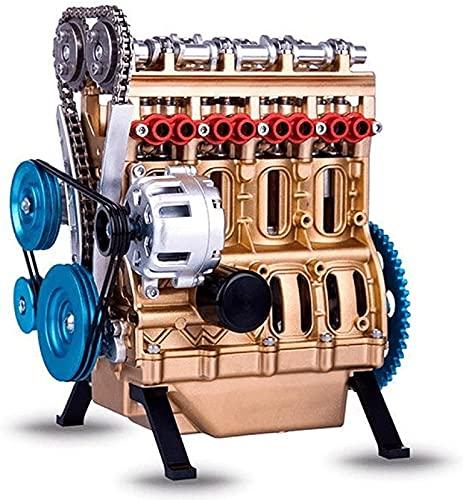4 Cylinder Car Engine Kit Adult Model, Resin Art Car Model Engine Kit, Mini Engine DIY Car Kit Home Decoration, Creative Table Decoration Crafts Decor