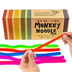 Top 10 Teacher Supplies: multicolored monkey noodles that stretch, bend, twist, etc. and then go back to their normal shape