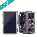ECO LLC Hunting Trail Camera with Portable Solar Panel Charging | 46Pcs IR LEDs | 16 Mega Pixel |...