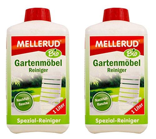 Preisvergleich Produktbild 2x MELLERUD Bio Gartenmöbel Reiniger 1 L Set Garten Möbel Kunststoff Holz Metall