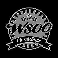 W800 Classic Style カッティング ステッカー シルバー 銀