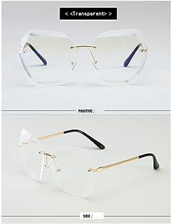fcbad5eb7c YLNJYJ Vintage Sin Montura Gafas De Sol Mujer Diseñador De La Marca De Gran  Tamaño Retro