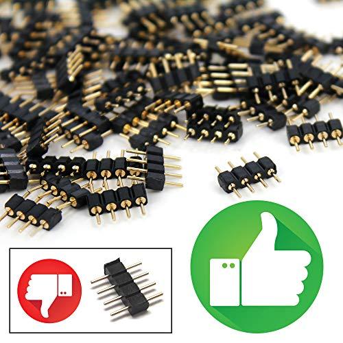 De Beste Kwaliteit 4 Pinnen Koppelen Mannelijke Stekker Adapter Connector Aansluiting voor RGB SMD LED Licht Streep Verlichting Strip (20 Stuks)