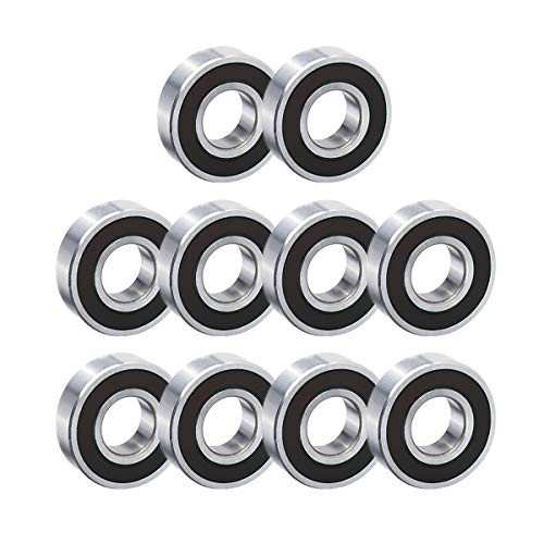 10 pcs 6200-2RS Ball Bearing 10mm x 30mm x 9mm Double Sealed Deep Groove Bearings