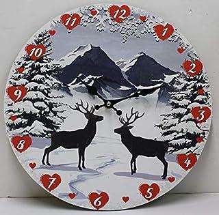 26 cm Piatto piano in gres decorativo Montagne Sports invernale VEGA