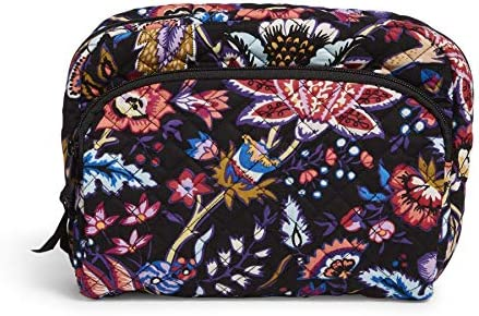 Vera Bradley Women s Signature Cotton Lay Flat Cosmetic Makeup Bag Foxwood One Size product image