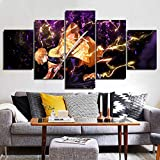 YIDENG 5 Posters Wall Decorations Demon Slayer Japanese Anime Poster Prints on Canvas Unframed Wall Art for Home Living Room Bedroom for Anime Enthusiast No Framel 1 Size 4