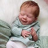 Reborn Baby Doll Muñeca Reborn Hecha A Mano Bebé 18 Pulgadas Hecho A Mano Realista Riendo Muñeca con Oso De Peluche Set para Niños
