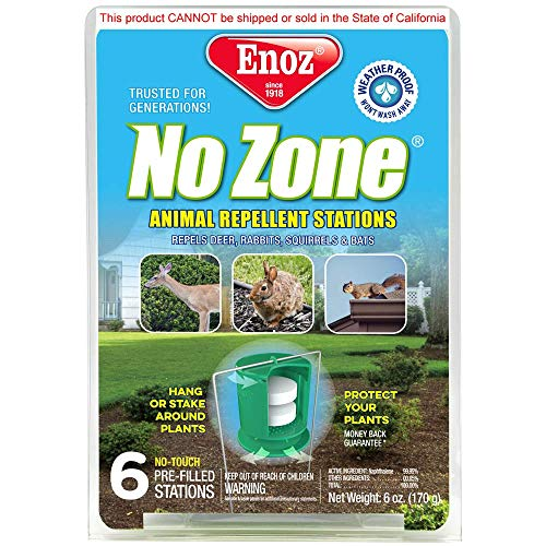 Enoz Zone Animal Repellent Stations 6 Count, 6 Oz, White
