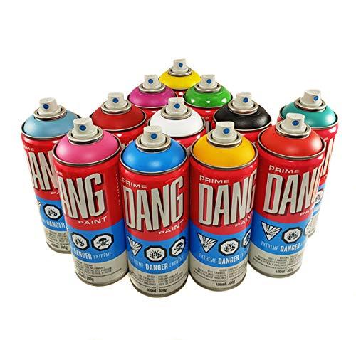 DANG Prime Graffiti Spray Paint - Main Set of 12 Colors