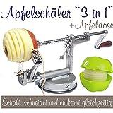Sbuccia-mele 3 in 1, con contenitore per la mela grigio argentato...