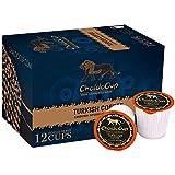 ChaldoCup Turkish Coffee (Medium Dark Roast Coffee), 12ct. Non-Filtered Grounds, Cardamom & Flavored Blends, Recyclable Single Serve Dark Roast Coffee Pods – 100% California Roasted Coffee, Dark Roast K Cups Compatible, Ibrik Style Brew