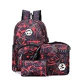 MLOPPTE 3 unids / set USB mochilas masculinas mochilas de escuela secundaria para mujeres 2021 niños una bolsa de hombro bolsa de viaje para estudiantes hombres mochila escolar roja