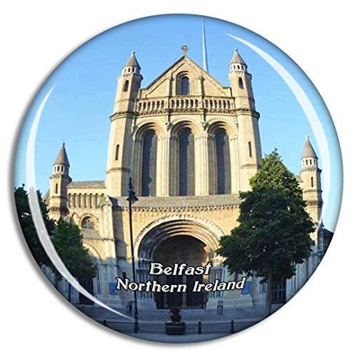 Weekino Irlanda del Nord Belfast Cathedral Quarter UK England Calamità da frigo 3D Cristallo Bicchiere Tourist City Viaggio Souvenir Collezione Regalo Forte Frigorifero Sticker