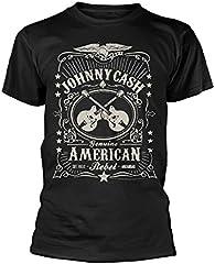 Johnny Cash Camiseta Oficial American Rebel (Negro)