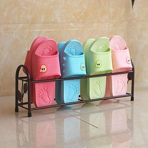 GLXLSBZ Estantes de baño Simple Creativo Hierro Baño Arte Zapatero Puerta Vintage Después del Zapatero (Decoración del hogar)