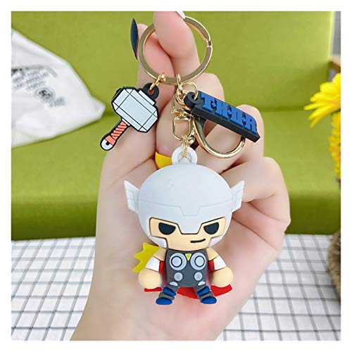 YSYSPUJ Keychain Captain America Doll Keychain Iron Man Spider-Man Cartoon Bag Pendant Hulk Children Gifts (Color : Thor)