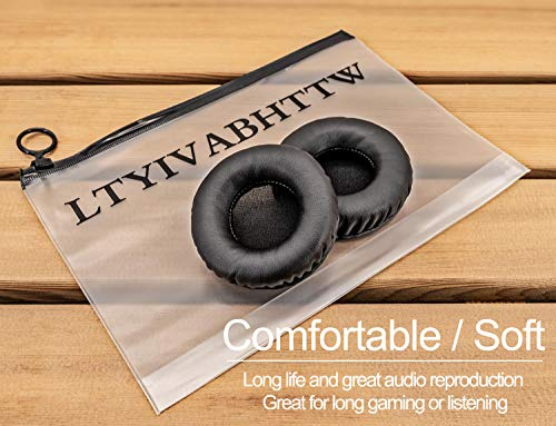 Comfortable Leatherette Gel Ear Cushions//Ear Seals 1 Pair for Telex Airman 850 Aviation Pilot Headset Compete Audio Replacement TLX80 Ear Pads 60mm Diameter