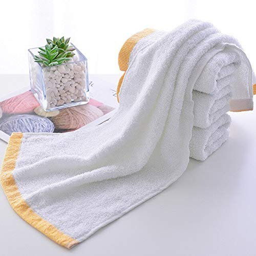 Xiaobing 1 Toalla de baño de algodón baño del Hotel en casa Toalla de Secado rápido Bordada Dorada -blanco-35x75cm