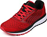 WHITIN Chaussures de Sport pour Femme Homme Running Baskets Sneakers Chaussures de Course Sports Fitness Gym Athlétique Rouge 44