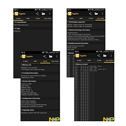YIQing NTAG216 NFC Tags (NFC-Aufkleber/NFC-Sticker) 888 Bytes Weiß (100 Stück)