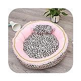 Cojín de princesa para perro, cama de gato rosa coreano leopardo, saco de dormir para perro, cama con almohada de perro, sofá Circular, Pet Waterlo-40 cm