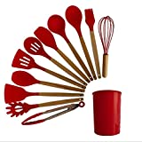 Establecimiento de utensilios de cocina de silicona resistente al calor Herramientas de cocción antiadherente Cocina Herramienta para hornear Kit Utensilios Utensilios de cocina Accesorios